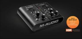 Interfaz M-Audio M-Track Plus portable usb