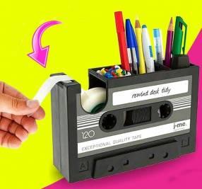 Lapicero organizador porta lápices cassette