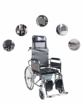 Silla de ruedas con opción sanitaria 2 en 1