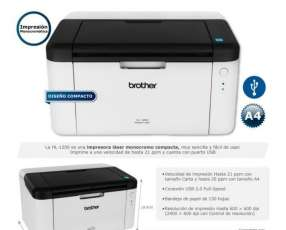 Impresora monocromática Brother HL1200