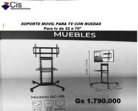 Soporte de TV Móvil con rueditas de 32 a 70 pulgadas