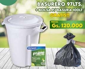Basurero blanco 97 litros Plasvale