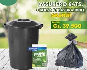 Basurero Plasvale 64 litros