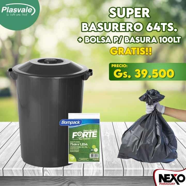 Basurero Plasvale 64 litros - 0