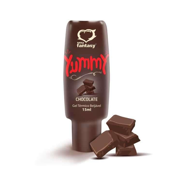 Gel para sexo oral comestible chocolate Yummy - 0