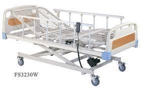 Alquiler de cama hospitalaria de tres movimientos importada