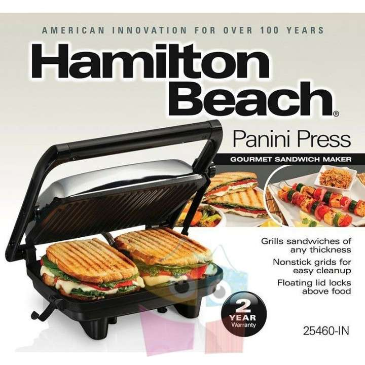 Grill Sandwichera - Hamilton Beach - Panini Press Gourmet - 4