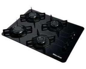 Cocina Anafe Cooktop MegaStar a gas con 4 Hornallas