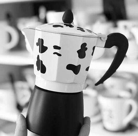 Cafetera Italiana para 3 tazas diseño vaca - 0