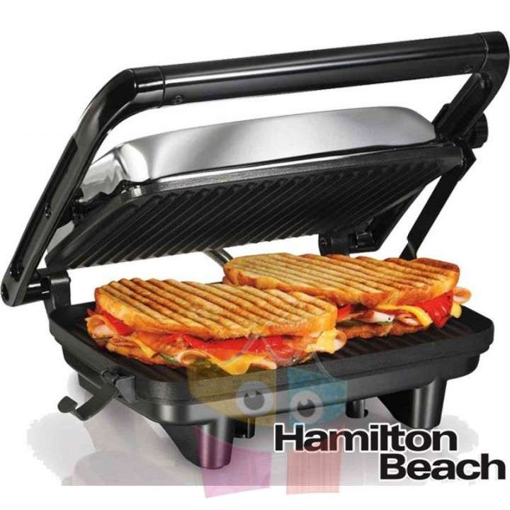 Grill Sandwichera - Hamilton Beach - Panini Press Gourmet - 0