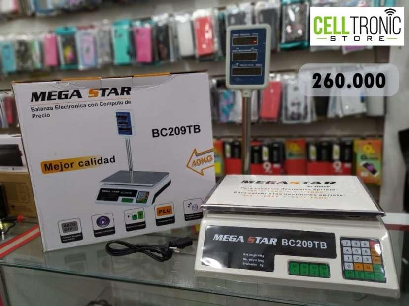 Balanza electrónica con computo de precio Mega Star BC209TB - 0