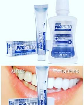 Crema dental blanqueadora y enjuague bucal