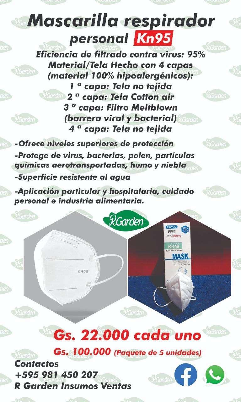 Mascarilla KN95 certificados - 2