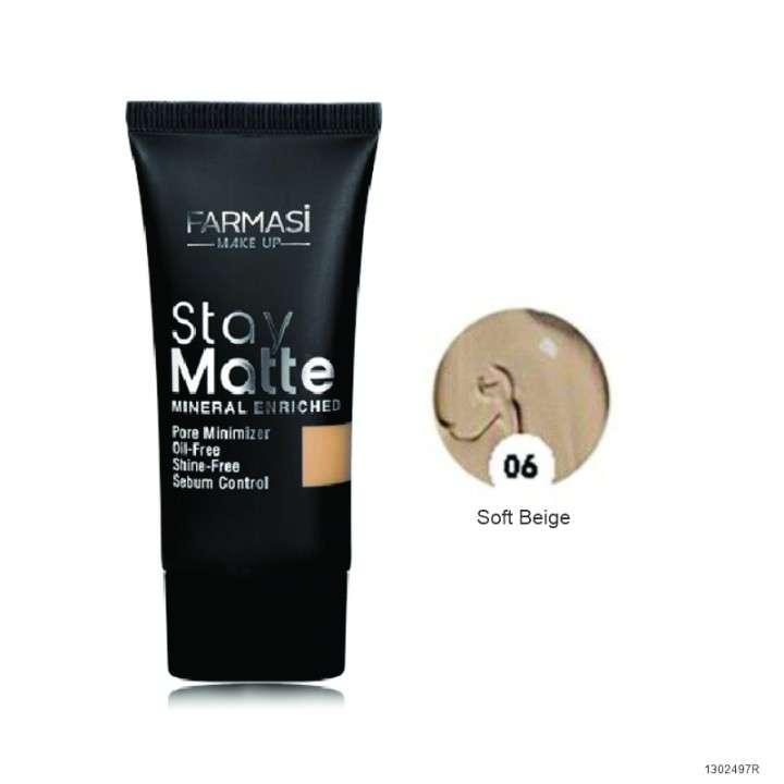 Base stay matte 06 soft beige 30 ml - 0