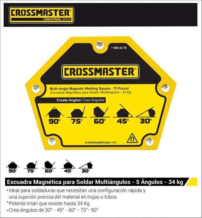 Escuadra magnético 22,7 kg 5 ángulos Crossmaster 9932274 - 1