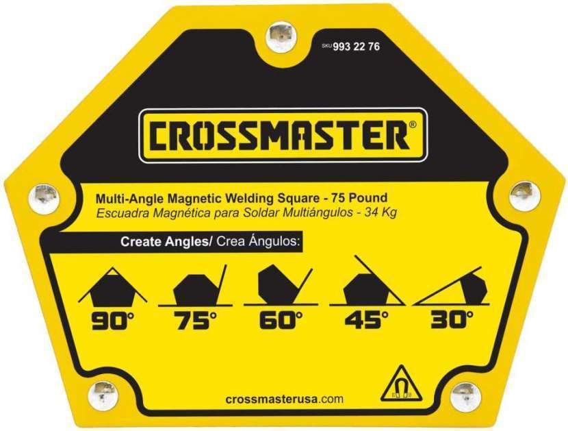 Escuadra magnético 22,7 kg 5 ángulos Crossmaster 9932274 - 0
