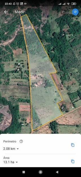 Inmueble de 13 hectáreas en Piribebuy