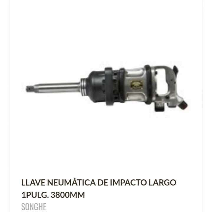 Llave neumática de impacto largo 1 pulgada 3800 MM - 0