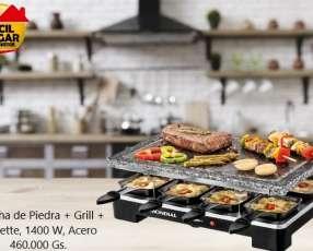 Mondial SG01 Le Gourmet plancha de piedra + grill + raclette