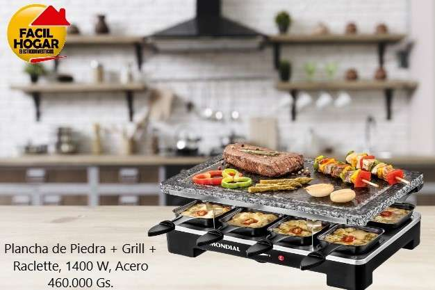Mondial SG01 Le Gourmet plancha de piedra + grill + raclette - 0