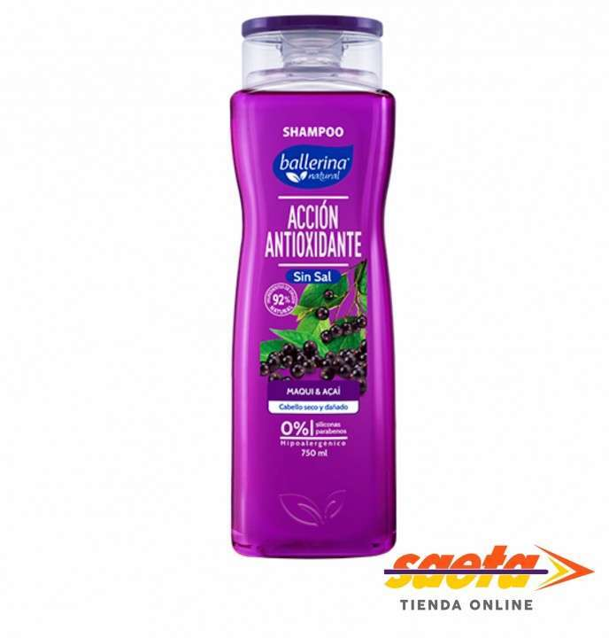 Shampoo antioxidante maqui y açaí Ballerina 750ml - 0
