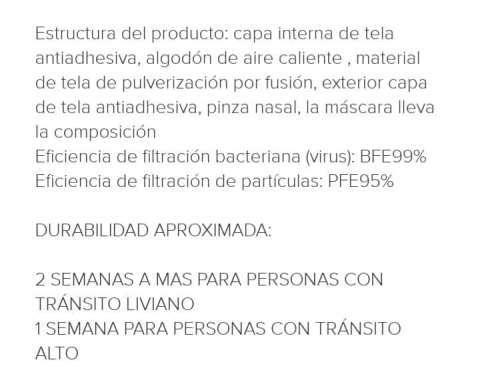 Tapabocas KN95 - 2