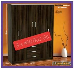 Placard de 6 puertas y 3 cajones