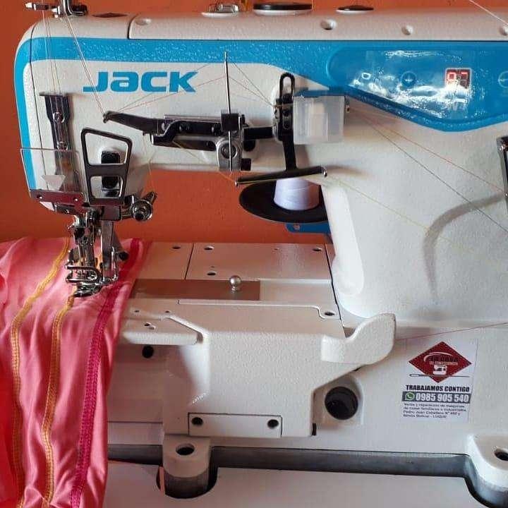Collareta industrial Jack w4 con motor electrónico incorporado al cabezal - 0