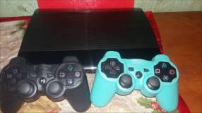 PS3 con 2 controles y 6 juegos