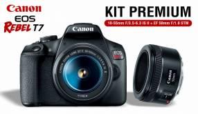Cámara Canon EOS Rebel T7 Kit Premium