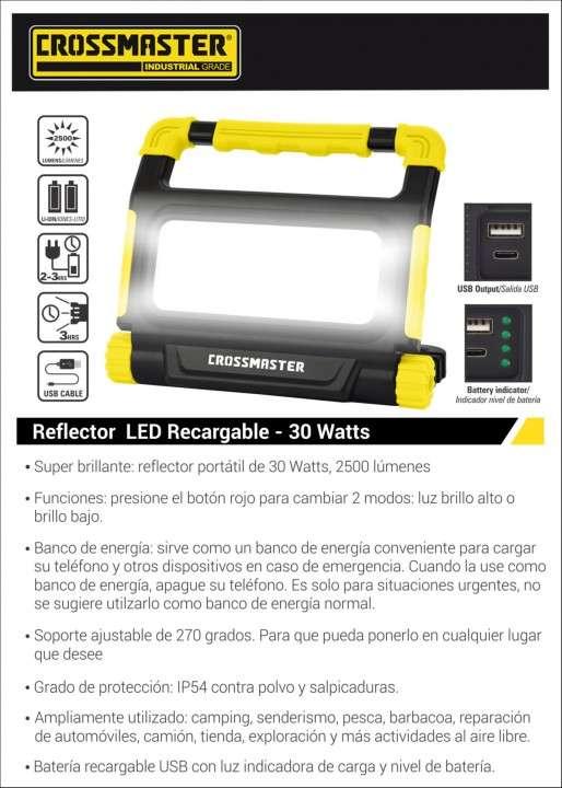 Reflector led recargable 30W Crossmaster 932786 - 1