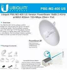 Ubiquiti PowerBeam M Series,2GHz 18dBi dual pol PBE-M2-400 - 0