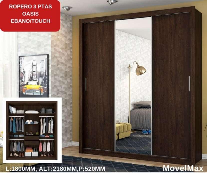 Ropero Oasis 3 puertas corredizas Ébano Movel Max - 1