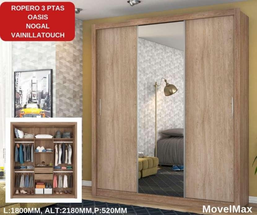 Ropero Oasis 3 puertas corredizas Ébano Movel Max - 0