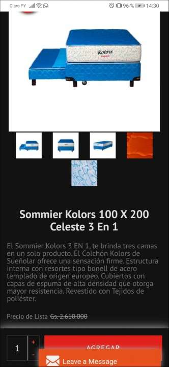 Sommier Sueñolar Kolors 100x200 cm - 4