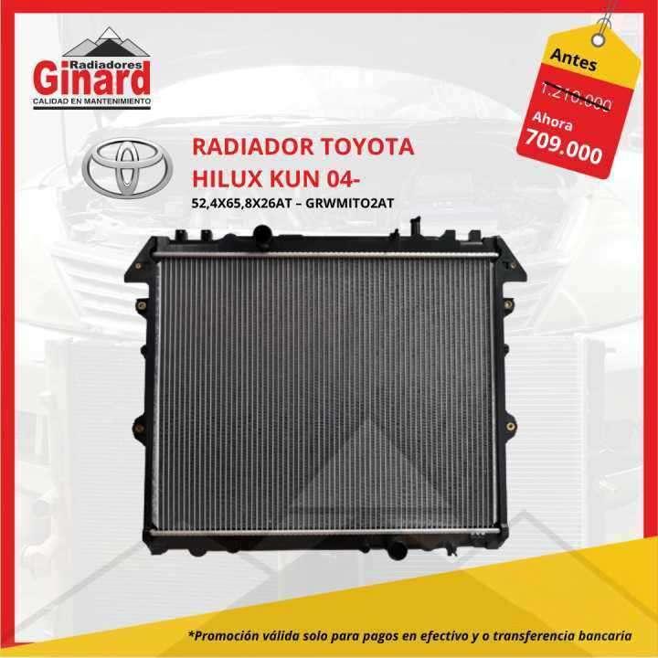 Radiador Toyota Hilux Kun 04- - 0