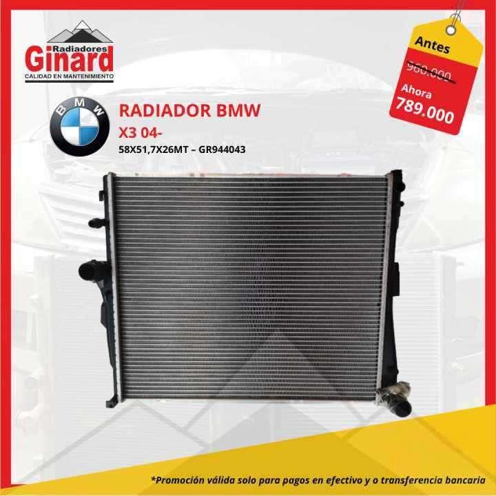 Radiador BMW X3 04 - 0