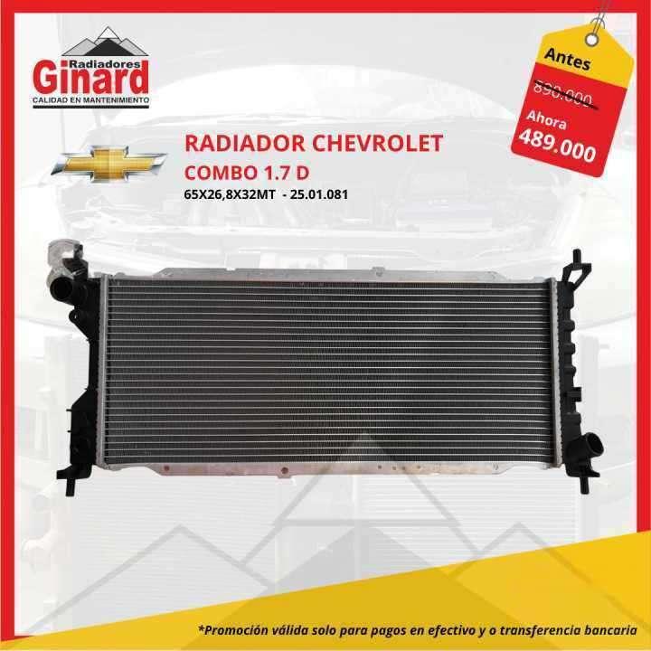 Radiador para Chevrolet Combo 1.7 D - 0