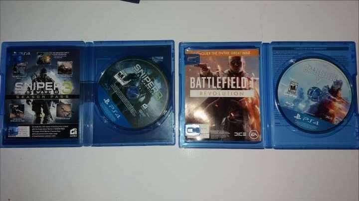 2 juegos de ps4 Sniper Ghost Warrior 3 y Battlefield 5 - 1