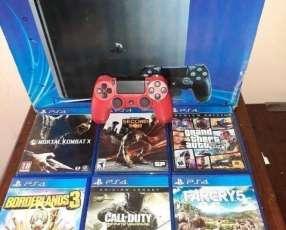 PS4 con 1 control más 6 juegos