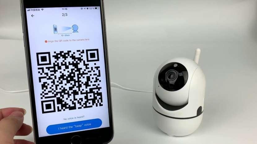 Cámara IP wifi visión nocturna y cabeza móvil - 2
