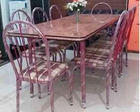 Juego de comedor con 8 sillas