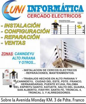 Instalación de cercado eléctrico
