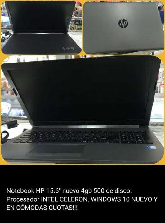Notebook hp 15.6 nuevo 4gb 500 de disco. - 0