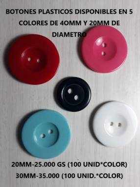 Botones plásticos