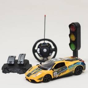 Autito a control remoto con pedal y volante