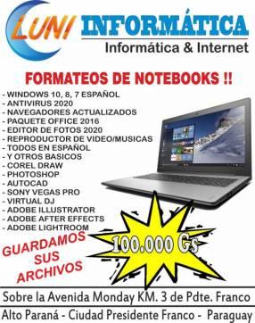 Formateos de Notebooks