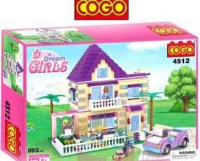 Casa de Verano Juego de Construcción Cogo Blocks 892 piezas