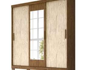 Ropero 3 puertas Ilheus Moval Castaño Wood