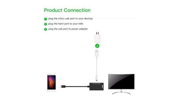 Conector 2 en 1 HDMI micro usb y tipo C - 1